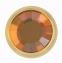 Swarovski 1780/100 11mm Gold-Plated Flatback Snap Fastener - Copper