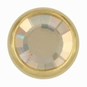 Swarovski 1780/100 11mm Gold-Plated Flatback Snap Fastener - Golden Shadow