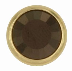 Swarovski 1780/100 11mm Gold-Plated Flatback Snap Fastener - Jet Nut