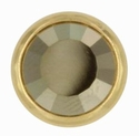 Swarovski 1780/100 11mm Gold-Plated Flatback Snap Fastener - Metallic Light Gold
