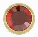 Swarovski 1780/100 11mm Gold-Plated Flatback Snap Fastener - Red Magma
