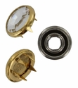 Swarovski 1781/100 11mm Gold-Plated Flatback Snap Fastener