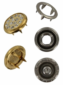 Swarovski 1780/114 11mm Gold-Plated Multi-Stoned Snap Fastener