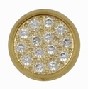 Swarovski 1780/114 11mm Gold-Plated Multi-Stoned Snap Fastener - Clean with Gold Base