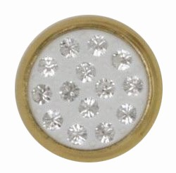 Swarovski 1780/114 11mm Gold-Plated Multi-Stoned Snap Fastener - Clean with White Base
