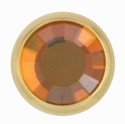 Swarovski 1781/100 11mm Gold-Plated Flatback Snap Fastener - Copper