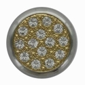 Swarovski 1780/114 11mm Silver-Plated Multi-Stoned Snap Fastener - Clear with Gold Base