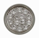 Swarovski 1780/114 11mm Silver-Plated Multi-Stoned Snap Fastener - Clear with Silver Base