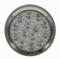 Swarovski 1780/114 11mm Silver-Plated Multi-Stoned Snap Fastener - Clear with White Base