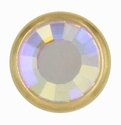 Swarovski 1781/100 11mm Gold-Plated Flatback Snap Fastener - Crystal AB