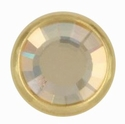 Swarovski 1781/100 11mm Gold-Plated Flatback Snap Fastener - Golden Shadow