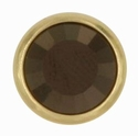 Swarovski 1781/100 11mm Gold-Plated Flatback Snap Fastener - Jet Nut