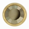 Swarovski 1781/100 11mm Gold-Plated Flatback Snap Fastener - Metallic Light Gold