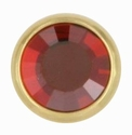Swarovski 1781/100 11mm Gold-Plated Flatback Snap Fastener - Red Magma