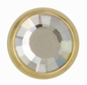Swarovski 1781/100 11mm Gold-Plated Flatback Snap Fastener - Silver Shade