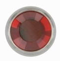 Swarovski 1781/100 11mm Silver-Plated Flatback Snap Fastener - Red Magma