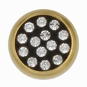 Swarovski 1781/114 11mm Gold-Plated Multi-Stoned Snap Fastener - Clear with Black Base