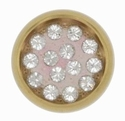 Swarovski 1781/114 11mm Gold-Plated Multi-Stoned Snap Fastener - Clear with Transparent Base