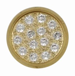 Swarovski 1781/114 11mm Gold-Plated Multi-Stoned Snap Fastener - Clear with Gold Base