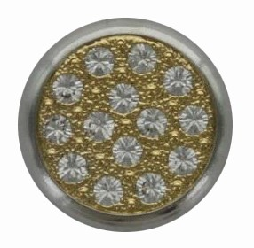 Swarovski 1781/114 11mm Silver-Plated Multi-Stoned Snap Fastener - Clear with Gold Base