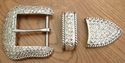 "Swarovski Rhinestone S5733 Belt Buckle Set 1 1/2"" Wide"