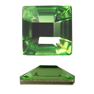 Swarovski Square Rhinestone 25mm in Peridot