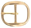 TV-718-2 BOC Solid Brass Belt Buckle 1""