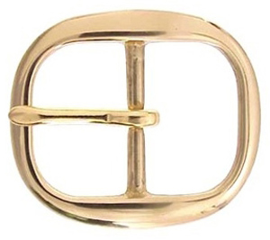 TV-718-5 BOC Solid Brass Belt Buckle 1 3/4""
