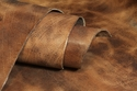 Water Buffalo Hide Hand Antiqued Tan Finished Leather 8-9oz