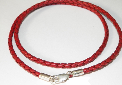 Woven Necklace Cord- Red