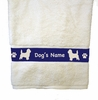 Bath Towel - Dog Breed Personalized with Name