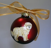 Goldendoodle Hand Painted Christmas Ornament