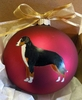Greater Swiss Mountain Dog Hand Painted Christmas Ornament