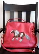 Gypsy Cob Vanner Drum Horse Hand Painted Purse
