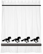 Horse Breed Shower Curtain