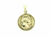 American Staffordshire Terrier C473Y Head/Disc Rhodium E&N