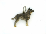 Australian Cattle Dog C105BW/Rhodium (WG)