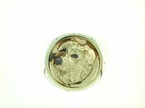 Australian Shepherd Head/RHF & Disc in 14KY & Silver Ring