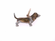 Basset Hound C116R/Rhodium Color (RG)