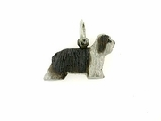 Bearded Collie C085W/Rhodium (WG)