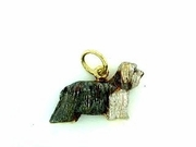 Bearded Collie C085Y/Rhodium