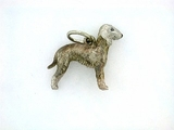 Bedlington Terrier C223W/Rhodium (WG)