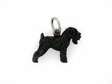 Black Russian Terrier C369W/Rhodium Black  (WG)