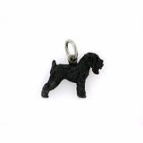 Russian Oberegs with opal for Black Russian Terriers pendant Talisman for dog Pet amulet. Dog charm necklace
