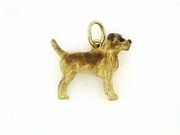 Border Terrier C190Y/Rhodium