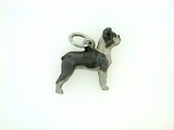 Boston Terrier C439W/Uncropped Ears/Rhodium (WG)