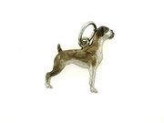 Boxer C191W Uncropped Ears/Rhodium Color (WG)