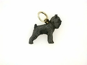 Brussels Griffon C084Y/Rhodium Black