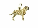 Bullmastiff C263W/Rhodium Color (WG)
