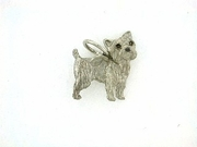 Cairn Terrier C242W/Wings/Rhodium E&N (WG)